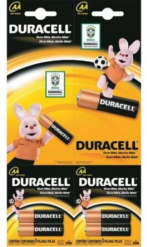 Kit 24 Pilhas Duracell Alcalina Pequena Aa C/ 2 Cartelas 6x2