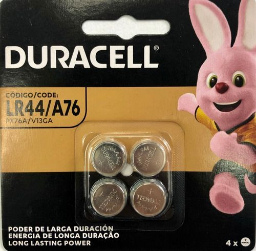 Bateria Duracell Lr44 A76 Px76a V13ga 6 Cartela C/4 Unidades