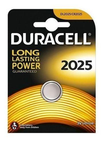 2 Pilha Cr 2025 Duracell 3v Lithium Bateria Moeda Cartela C1