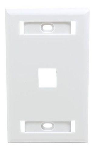 Espelho 4x2 Com 1 Saida Para Keystone Branco C/2 Unidades