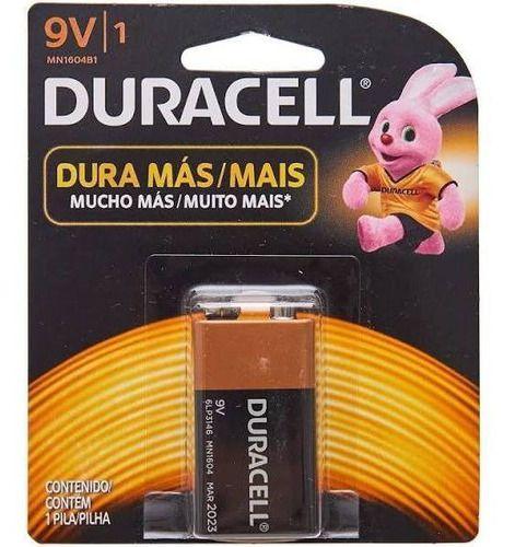 6 Bateria Duracell Pilha Alcalina 9 Volts Mn1604b1