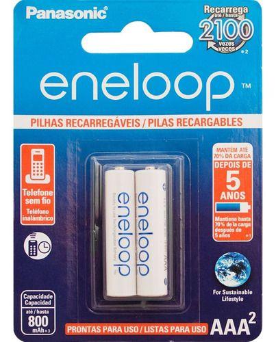 Pilhas Recarregáveis Aaa 800mah Panasonic Eneloop C/10 Unid