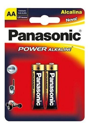 Pilha Alcalina Panasonic Aa Pequena Cartela C/4 Unidades