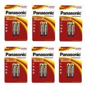 12 Pilha AA Alcalina Panasonic Original