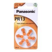 12 Pilhas Auditiva Pr-13 Zinc Air Panasonic 1.4v