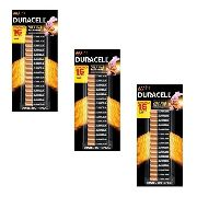 Kit 48 Pilhas Duracell Palito Aaa Cartela C/16 Econopack
