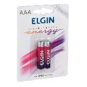 Pilhas AAA Palito Recarregaveis Elgin 1000 Mah C/6 Unidades