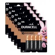 24 Pilhas Duracell Alcalina Pequena AA 6 Cartelas C/4 Atacado