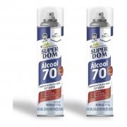 2 Alcool Aerossol 70 Super Dom 300ml Dom Line Spray Original