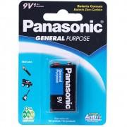 2 Baterias 9v Panasonic Super Hyper Cartelas C/ 1 Unidade
