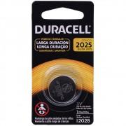 3 Pilhas Cr 2025 Duracell 3v Lithium Bateria Moeda Cartela
