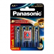 4 Pilha Aa Panasonic Alcalina Premium Leve 4 Pague 3 Pilhas