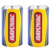 4 Pilhas Grande D Comum Zinco Rayovac Amarelinha Jogos Brinquedos Lanternas