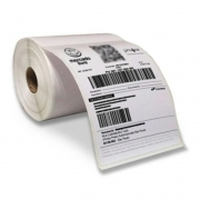 4 RoloS Etiqueta 10x15 Cada Rolo 330 Etiquetas Adesiva Serrilha Couche Usa Ribbon Zebra Argox Elgin Mercado Livre