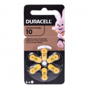 6 Baterias Para Aparelho Auditivo Pilha Duracell 10