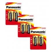 6 Pilha Alcalina Panasonic Grande D LR15