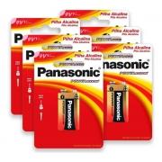 6 Pilha Bateria 9V Alcalina Panasonic Original Power