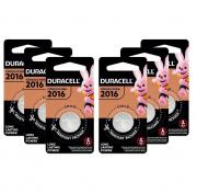 6 Pilhas Cr2016 Duracell 3v Bateria De Lítio Moeda Dl 2016