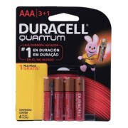 8 Pilhas Quantum Duracell Aaa Alcalina