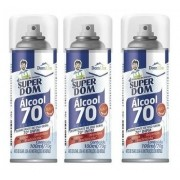 12 Álcool Spray Aerossol 70 Super Dom 300ml Dom Line