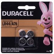 Bateria Duracell Lr44 A76 Px76a V13ga Cartela Com 4 Unidades