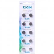 Cartela Bateria Elgin Lr44 1.5v Com 10 Ag13