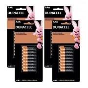 64 Pilha AAA Duracell Alcalina Kit Econopack