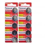 Kit 10 Baterias Moeda Panasonic CR2450 PL5B 3V Lithium Original