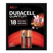 Kit 12 Pilhas Duracell Quantum Alcalina Aa Cartela C/ 2 Unid