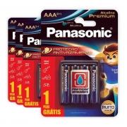 Kit 16 Pilha Aaa Panasonic Alcalina Premium Leve 16 Pague 12