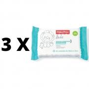 Kit 3 Pacotes Toalhas Umedecidas Fischer Price Sem Perfume
