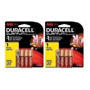 Kit 4 Pilhas Aa 4 Aaa Quantum Duracell Alcalina Promoção