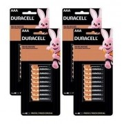 Kit 64 Pilhas Duracell Palito Aaa Cartela C/16 Econopack