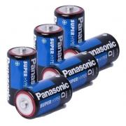 Kit 6 Pilha Grande D 6 Pilha Média C Panasonic Comum