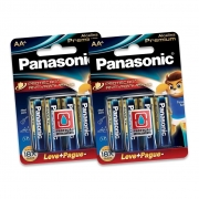 Kit 8 Pilhas Aa + 8 AAA Panasonic Alcalina Premium Dura 15x Mais