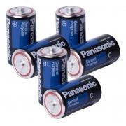Kit 8 Pilhas Média C Panasonic 1,5v Rádio Brinquedos