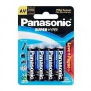 Kit Pilha AA Panasonic Cartela Leve 24 Pague 18 (Pilhas) Super Hyper Antivazamento