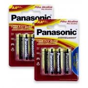 Pilha Aa Alcalina Panasonic Leve 8 Pague 6 Pilhas Kit