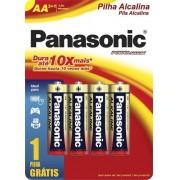 Pilha Aa Alcalina Panasonic Pequena Leve 8 Pague 6 Kit