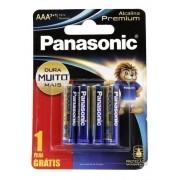 Pilha Aa Panasonic Alcalina Premium  Leve 4 pague 3 Pilhas