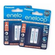 Pilha AAA Eneloop Panasonic  Recarregavel 800mah Original C/4 Unid