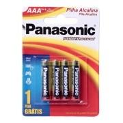 Pilha Aaa Panasonic Alcalina Palito A3 Leve 4 Pague 3