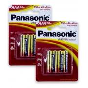 Pilha Alcalina Aaa Panasonic Leve 8 Pague 6 Pilhas Promoção Kit