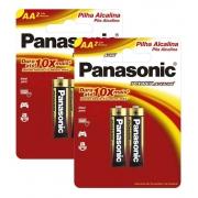 Pilha Alcalina Panasonic Aa Cartela C/4 Unidades