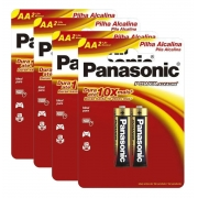 Pilha Alcalina Panasonic Aa Cartela C/8 Unidades