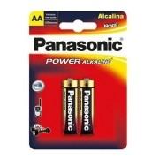 12 Pilha AA Alcalina Panasonic 12 Unidades Original