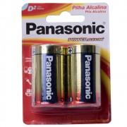 6 Pilha Alcalina Panasonic Grande D Cartela