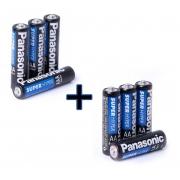 Pilha Palito Aaa 4 Un + Aa 4 Un Panasonic Comum Original Kit