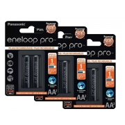 Pilha AA Eneloop Pro Recarregável Panasonic C/6 Unid