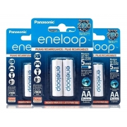 Pilhas Recarregáveis Panasonic Aa 2000mah Eneloop C/6 Unid